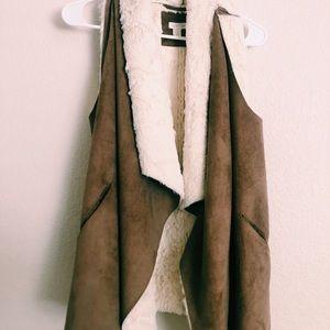 fuzzy vest from nordstrom